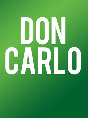 Washington National Opera - Don Carlo Poster