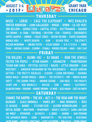 2017 Lollapalooza, Hutchinson Field Grant Park, Chicago