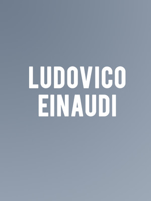 Ludovico Einaudi at Bass Concert Hall