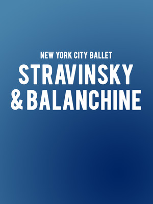 New York City Ballet Stravinsky Balanchine, David H Koch Theater, New York