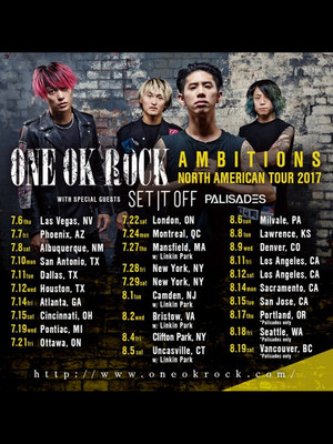 One OK Rock, The Aztec Theatre, San Antonio