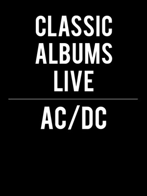 Classic Albums Live - AC/DC Poster