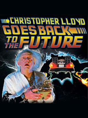 Christopher Lloyd: Goes Back to the Future Poster