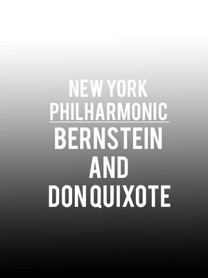 New York Philharmonic - Bernstein and Don Quixote Poster