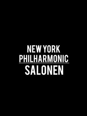 New York Philharmonic - Salonen Poster