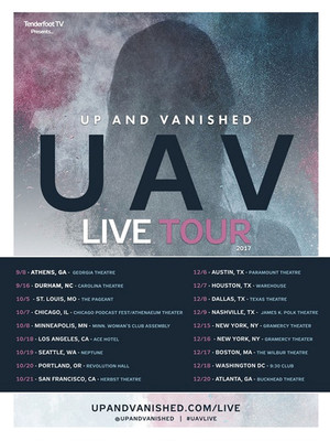 Up and Vanished Live Poster
