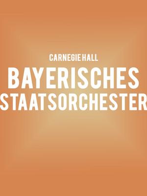 Bayerisches Staatsorchester at Isaac Stern Auditorium