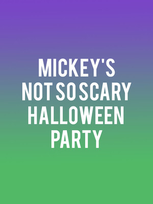 Mickeys Not So Scary Halloween Party, Walt Disney World Resort, Orlando
