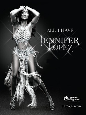 Jennifer Lopez at The Axis at Planet Hollywood Resort and Casino