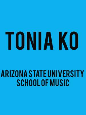 ASU Symphony Orchestra: Tonia Ko Poster