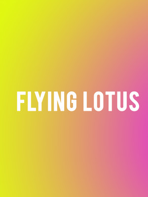 Flying Lotus at Showbox SoDo