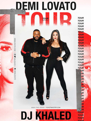 Demi Lovato and DJ Khaled at Amalie Arena