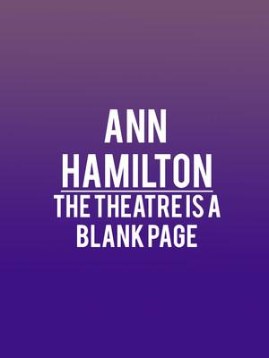 Ann Hamilton Poster