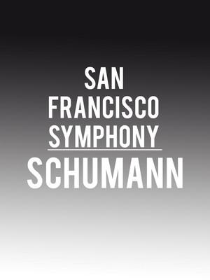 San Francisco Symphony - Schumann Poster
