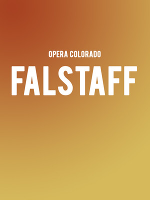 Opera Colorado - Falstaff Poster