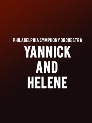 Philadelphia Symphony Orchestra - Yannick and Helene Poster