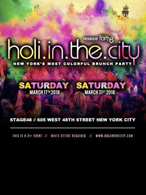 Holi in the City Poster
