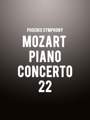 Phoenix Symphony - Mozart Piano Concerto 22 Poster