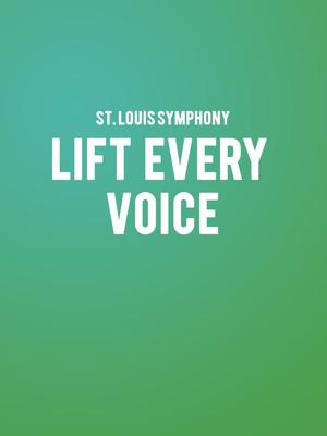 St Louis Symphony Lift Every Voice, Powell Symphony Hall, St. Louis