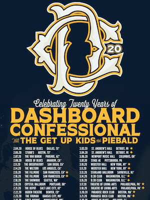 Dashboard Confessional at Bogarts
