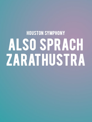 Houston Symphony - Also Sprach Zarathustra at Jones Hall for the Performing Arts