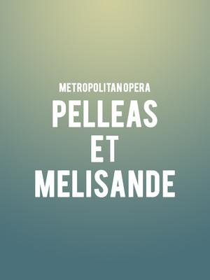 Metropolitan Opera Pelleas et Melisande, Metropolitan Opera House, New York