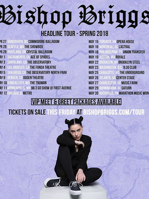 Bishop Briggs, Rams Head Live, Baltimore