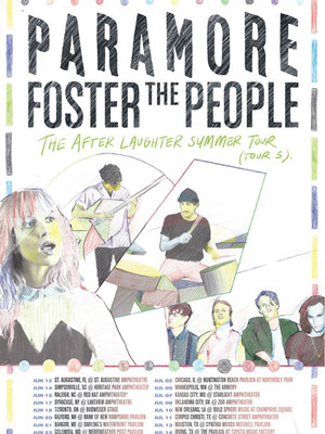 Paramore with Foster The People Poster