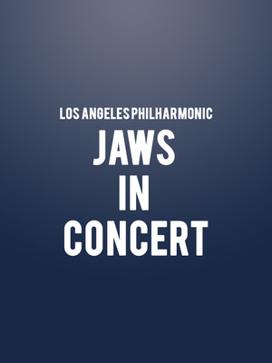Los Angeles Philharmonic - Jaws in Concert Poster