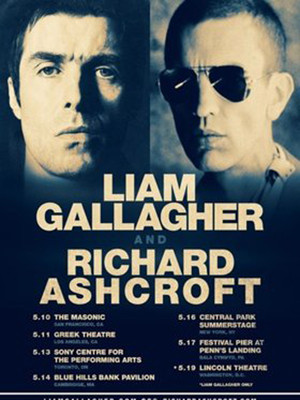 Liam Gallagher and Richard Ashcroft, Lincoln Theater, Washington