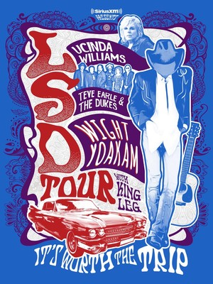 Lucinda Williams with Steve Earle and Dwight Yoakam at Charlotte Metro Credit Union Amphitheatre