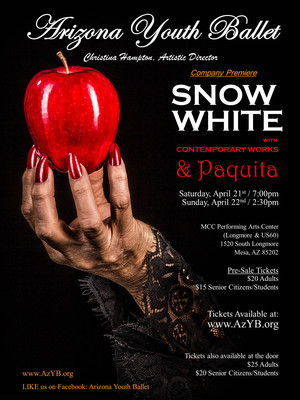 Arizona Youth Ballet Snow White Paquita and Deviation, MCC Performing Arts Center, Phoenix