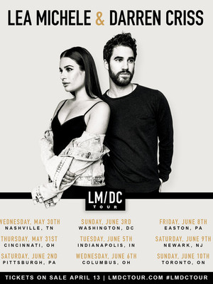 Lea Michele and Darren Criss at Ohio Theater