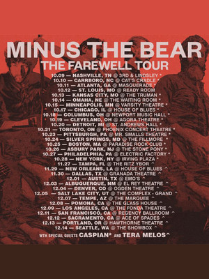 Minus the Bear, Marquee Theatre, Tempe