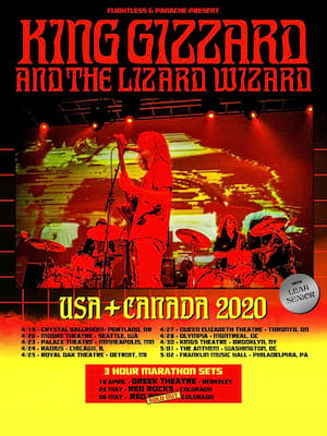 King Gizzard and The Lizard Wizard, The Joy Theater, New Orleans