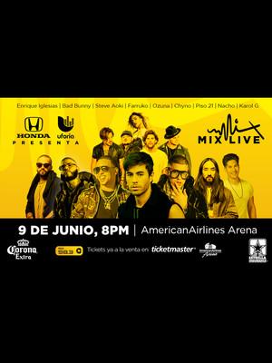 Uforia Music - Enrique Iglesias, Ozuna, Steve Aoki at American Airlines Arena