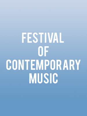 Festival of Contemporary Music Poster