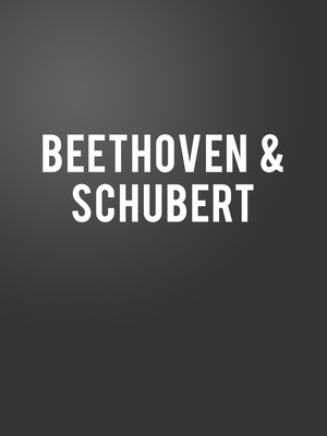 Beethoven and Schubert Poster
