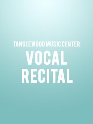 Tanglewood Music Center Vocal Recital Poster