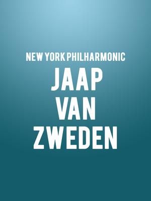 New York Philharmonic - Jaap van Zweden Poster