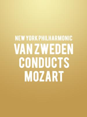 New York Philharmonic - Van Zweden Conducts Mozart at David Geffen Hall at Lincoln Center