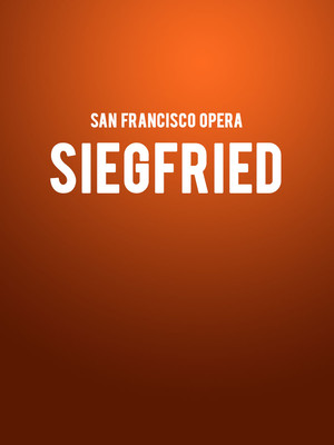 San Francisco Opera Siegfried, War Memorial Opera House, San Francisco