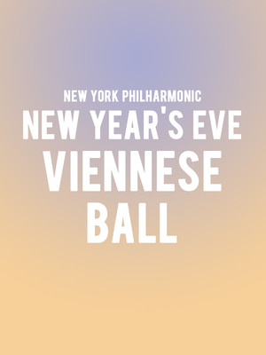 New York Philharmonic - New Year's Eve Viennese Ball Poster