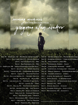 Gregory Alan Isakov at Infinity Music Hall & Bistro