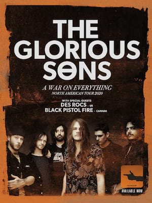 The Glorious Sons, MacEwan Hall Ballroom, Calgary