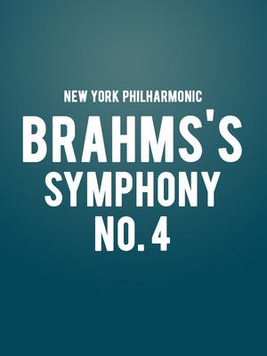 New York Philharmonic - Brahms's Symphony No. 4 Poster