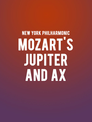 New York Philharmonic - Mozart's Jupiter Symphony and Ax Poster