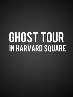 Ghost Tour in Harvard Square Poster