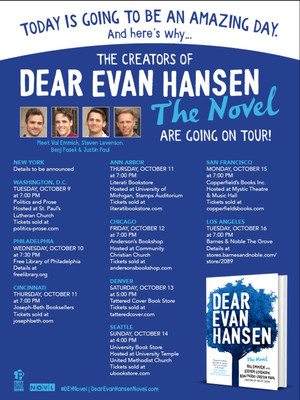 Dear Evan Hansen Book Tour Poster