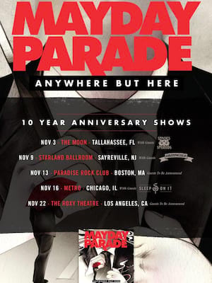 Mayday Parade, The Moon, Tallahassee